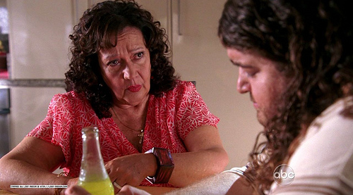 Hurley tells his mom