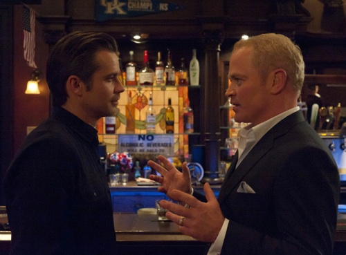 JUSTIFIED: Episode 10: Guy Walks into a Bar (Airs March 20, 10:00 pm e/p). L-R: Timothy Olyphant and Neal McDonough. CR: Prashant Gupta / FX.