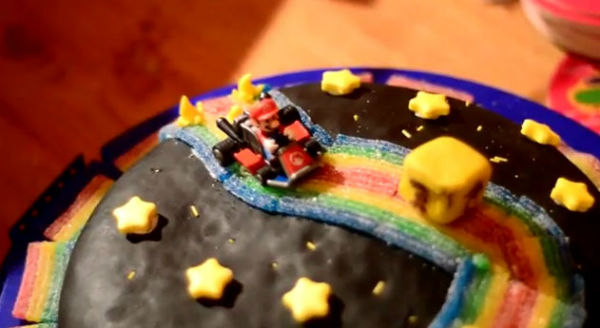 rainbow road cake
