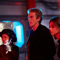 WARNING: Embargoed for publication until 00:00:01 on 10/11/2015 - Programme Name: Doctor Who   - TX: 14/11/2015 - Episode: SLEEP NO MORE (By Mark Gatiss) (No. 9) - Picture Shows: ***EMBARGOED UNTIL 10th NOV 2015*** Nagata (ELAINE TAN), Doctor Who (PETER CAPALDI), Clara (JENNA COLEMAN) - (C) BBC   - Photographer: Simon Ridgway