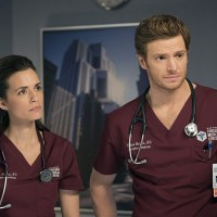 "CHICAGO MED -- ""Cold Front"" Episode 214 -- Pictured: (l-r) Torrey DeVitto as Natalie Manning, Nick Gehlfuss as Will Halstead -- (Photo by: Elizabeth Sisson/NBC)"
