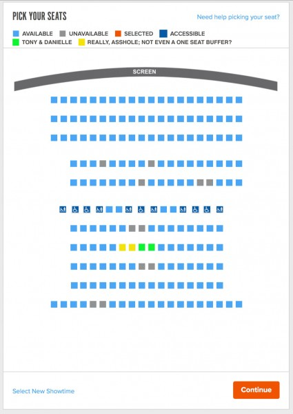 SEATING AFTER