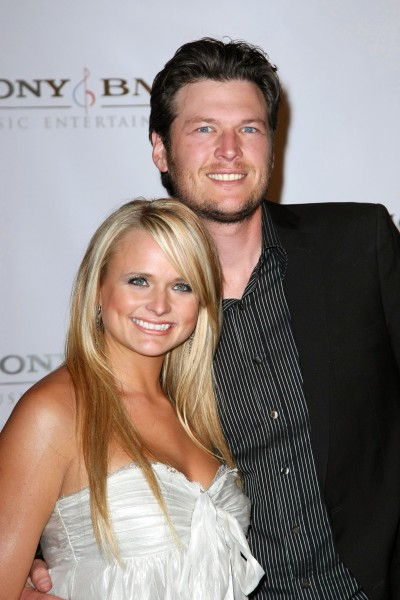 BEVERLY HILLS, CA - FEBRUARY 10:  Singers Miranda Lambert (L) and Blake Shelton arrive at the Sony BMG Music 2008 Grammy Awards After Party held at the Beverly Hilton Hotel on February 10, 2008 in Beverly Hills, California.  (Photo by Alberto E. Rodriguez/Getty Images)