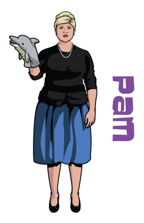 ARCHER: Pam as voiced by Amber Nash. CR: FX